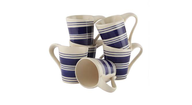 Phyllon Mugs Set of 6 (Blue) by Urban Ladder - Front View Design 1 - 383915