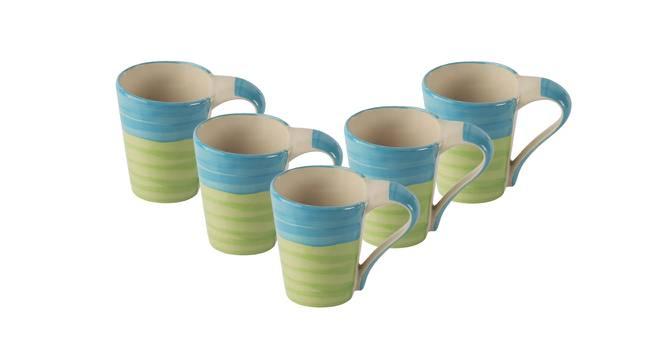 Park Mugs Set of 6 (Green) by Urban Ladder - Design 1 Side View - 383918