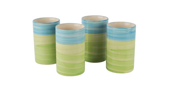 Patrin Glasses Set of 4 (Green) by Urban Ladder - Design 1 Side View - 383919