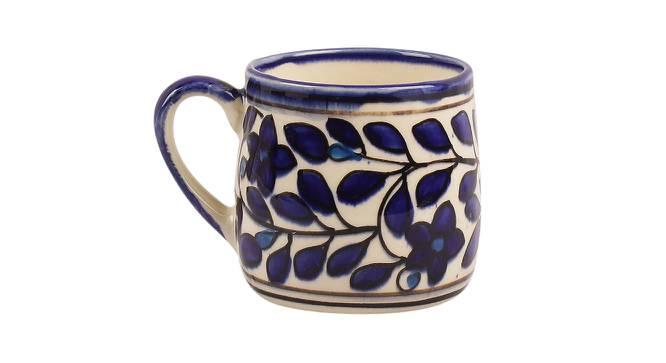 Palash Mugs Set of 4 (Blue) by Urban Ladder - Design 1 Side View - 383923