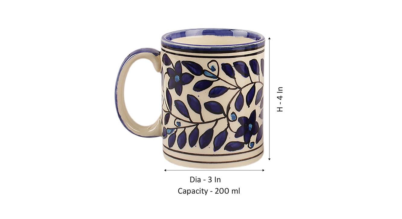 Panra mugs set of 2 blue 6