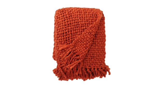 Morch Throw (Rust) by Urban Ladder - Front View Design 1 - 383994