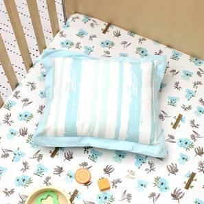 The Curious Koala Pillow & Cushion (Blue & White) by Urban Ladder - Design 1 Half View - 384034