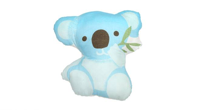 The Curious Koala Pillow & Cushion (Blue & White) by Urban Ladder - Front View Design 1 - 384037
