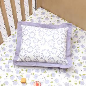 The Pretty Puffballs Pillow & Cushion (Purple & White) by Urban Ladder - Design 1 Half View - 384064