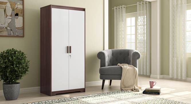 Miller 2 Door Wardrobe (Two-Tone Finish, Without Mirror, Without Drawer Configuration, 5.95 Feet Height) by Urban Ladder - Full View Design 1 - 384118