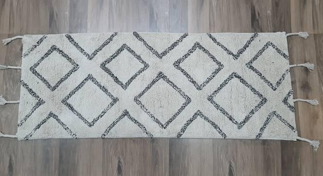 "Fenti Carpet (Cream, Rectangle Carpet Shape, 60 x 150 cm  (23"" x 59"") Carpet Size) by Urban Ladder - Design 1 Full View - 384155"