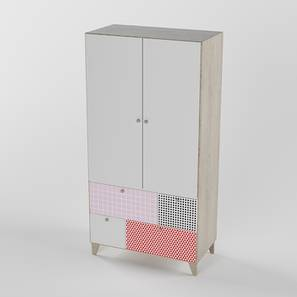 Quirk Box Wardrobe (Red, Matte Finish) by Urban Ladder - Front View Design 1 - 384246