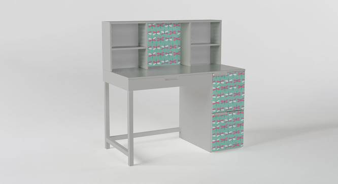 Pattern Play Study Table (Matte Finish, Silver Grey) by Urban Ladder - Front View Design 1 - 384250