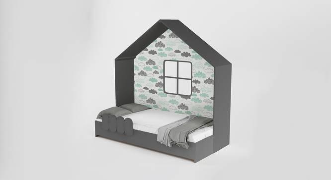 Little Hut Storage Bed (Matte Finish, Slate Grey) by Urban Ladder - Front View Design 1 - 384276