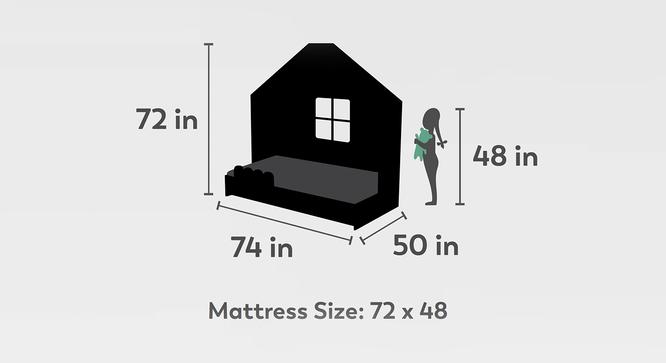 Little Hut Storage Bed (Matte Finish, Slate Grey) by Urban Ladder - Design 1 Dimension - 384278