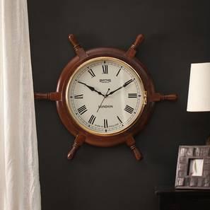 Aurora Wall Clock (Brown) by Urban Ladder - Front View Design 1 - 384336
