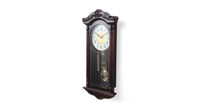 Charley Wall Clock (Brown) by Urban Ladder - Front View Design 1 - 384330