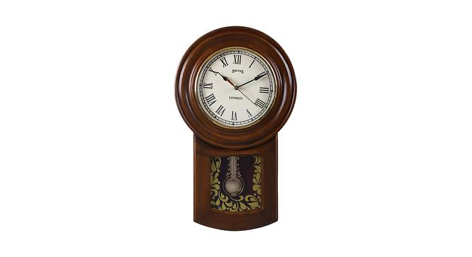 Aaliyah Wall Clock (Brown) by Urban Ladder - Front View Design 1 - 384331