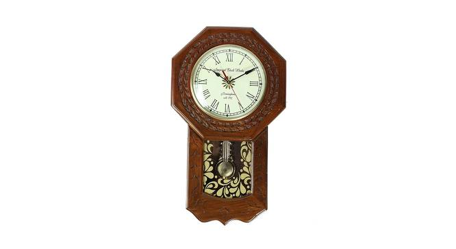 Ivy Wall Clock (Brown) by Urban Ladder - Front View Design 1 - 384334