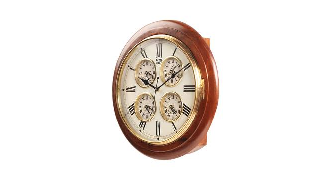 Eliana Wall Clock (Brown) by Urban Ladder - Front View Design 1 - 384337