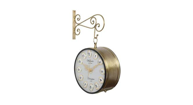 Elle Wall Clock (Gold) by Urban Ladder - Front View Design 1 - 384339