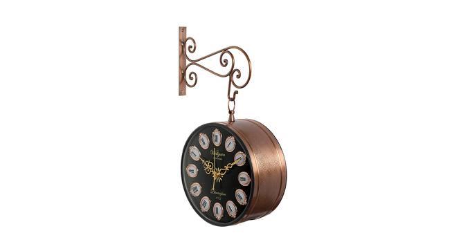 Lyla Wall Clock (Gold) by Urban Ladder - Front View Design 1 - 384340