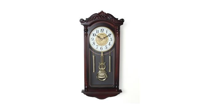 Charley Wall Clock (Brown) by Urban Ladder - Cross View Design 1 - 384343