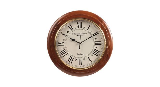 Mia Wall Clock (Brown) by Urban Ladder - Cross View Design 1 - 384346