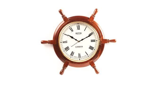 Aurora Wall Clock (Brown) by Urban Ladder - Cross View Design 1 - 384349