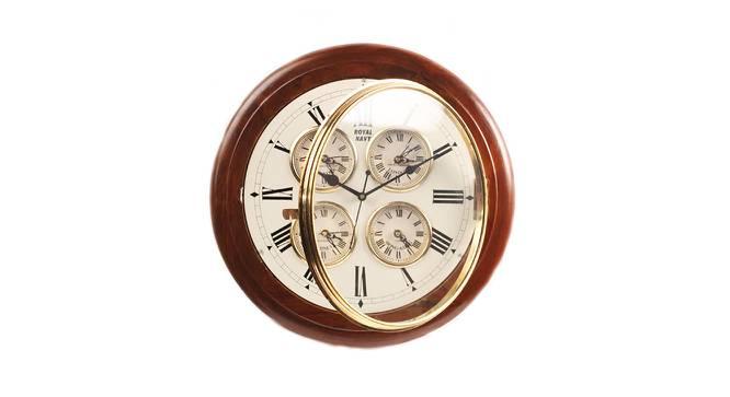 Eliana Wall Clock (Brown) by Urban Ladder - Cross View Design 1 - 384350