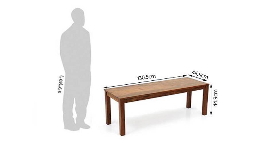 Capra bench teak dim1