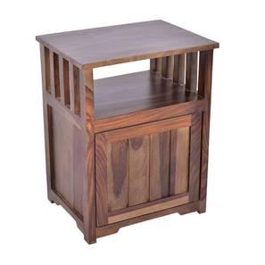 Artois Side & End Table (Walnut, Matte Finish) by Urban Ladder - Design 1 - 384398