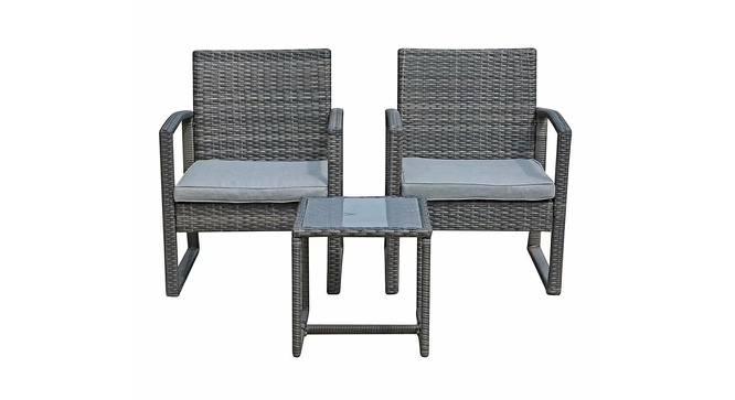 Iris Patio Set (Ash Grey, smooth Finish) by Urban Ladder - Cross View Design 1 - 384889