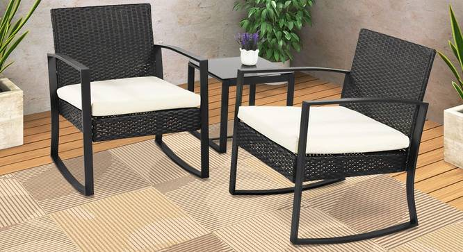 Colt Patio Set (Black, smooth Finish) by Urban Ladder - Cross View Design 1 - 384892