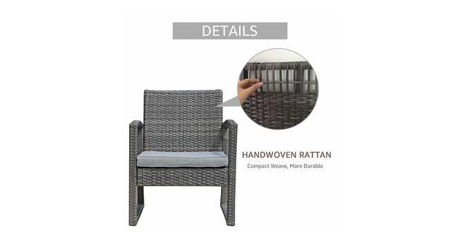 Iris Patio Set (Ash Grey, smooth Finish) by Urban Ladder - Front View Design 1 - 384896