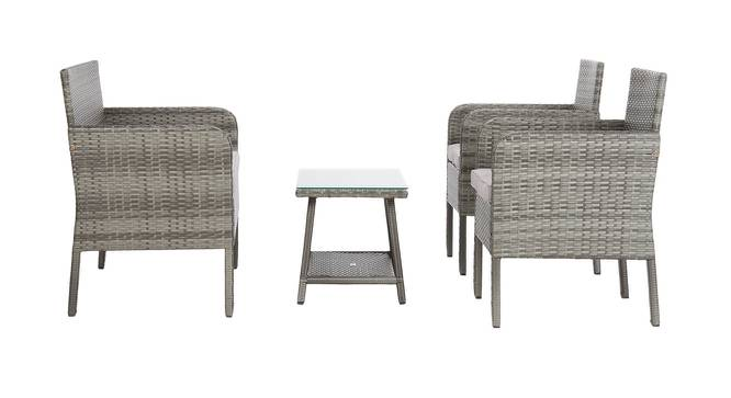Harmony Patio Set (Grey, smooth Finish) by Urban Ladder - Front View Design 1 - 384900