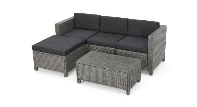 June Patio Set (Black, smooth Finish) by Urban Ladder - Cross View Design 1 - 384934