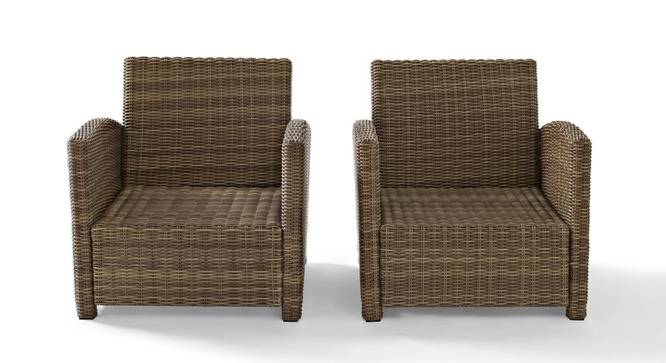 Linden Patio Set (smooth Finish, German Abbuca Wood) by Urban Ladder - Front View Design 1 - 384944