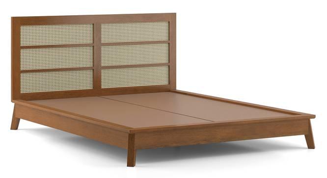 Fujiwara Bed (King Bed Size, Amber Walnut Finish) by Urban Ladder - Cross View Design 1 -