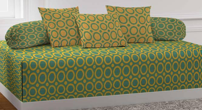 Aurea Diwan Set (Green) by Urban Ladder - Front View Design 1 - 384996