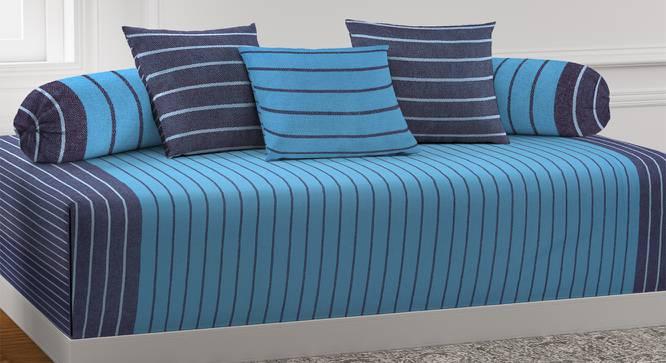 Jena Diwan Set (Blue) by Urban Ladder - Front View Design 1 - 385026
