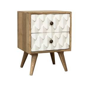 Shanaya Bedside Table (Natural) by Urban Ladder - Cross View Design 1 - 385213