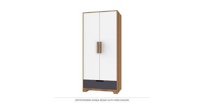 Layla Wardrobe (Matte Finish, Hibiscus White & English Walnut) by Urban Ladder - Cross View Design 1 - 385307