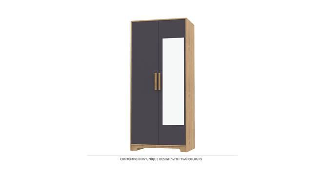 Scarlett Wardrobe (Matte Finish, Charcoal Grey & Mountain Maple) by Urban Ladder - Front View Design 1 - 385317