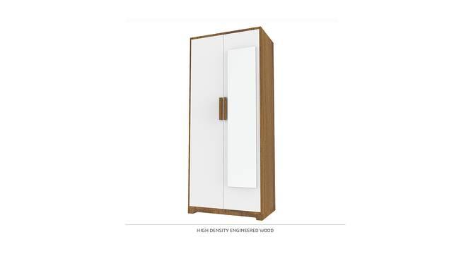 Madison Wardrobe (Matte Finish, Hibiscus White & English Walnut) by Urban Ladder - Front View Design 1 - 385319