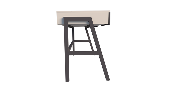 Grace Study Table (Charcoal Grey, Matte Finish) by Urban Ladder - Front View Design 1 - 385324