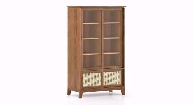 Fujiwara Bookshelf/Display Cabinet (75-book capacity) (Amber Walnut Finish) by Urban Ladder - Cross View Design 1 -