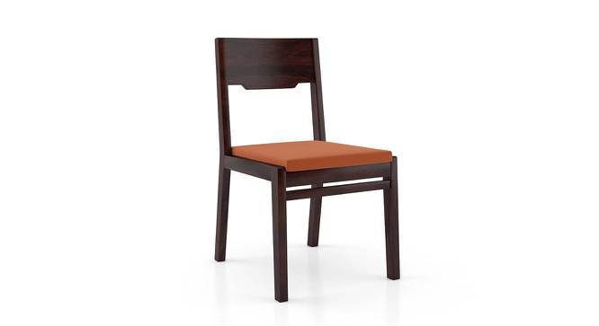 Kerry Dining Chairs - Set Of 2 (Mahogany Finish, Burnt Orange) by Urban Ladder - Cross View Design 1 -