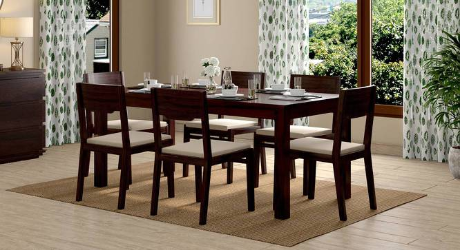 Kerry Dining Chairs - Set Of 2 (Mahogany Finish, Wheat Brown) by Urban Ladder - Full View Design 1 -