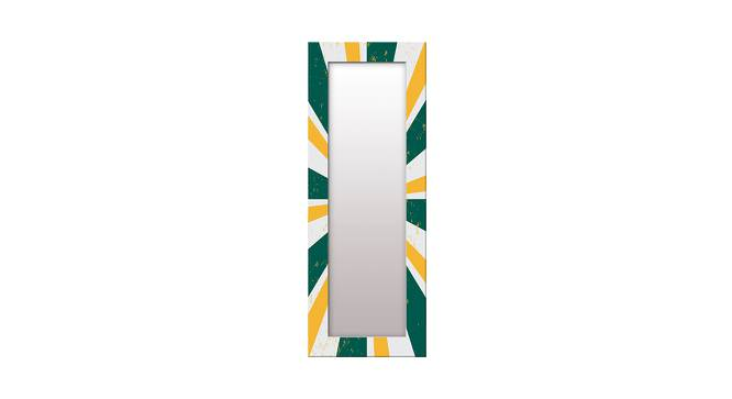 Burch Wall Mirror (Green, Tall Configuration, Rectangle Mirror Shape) by Urban Ladder - Front View Design 1 - 385503