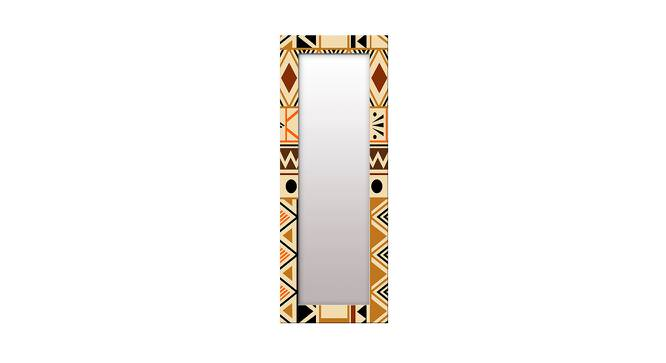 Avana Wall Mirror (Brown, Tall Configuration, Rectangle Mirror Shape) by Urban Ladder - Front View Design 1 - 385505