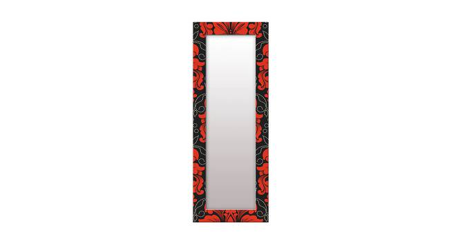 Brandise Wall Mirror (Red, Tall Configuration, Rectangle Mirror Shape) by Urban Ladder - Front View Design 1 - 385506