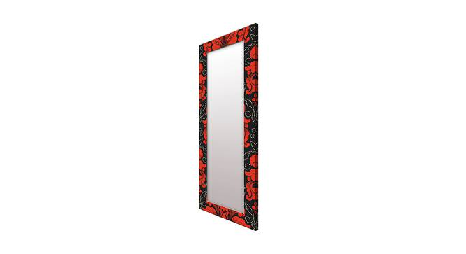 Brandise Wall Mirror (Red, Tall Configuration, Rectangle Mirror Shape) by Urban Ladder - Cross View Design 1 - 385510