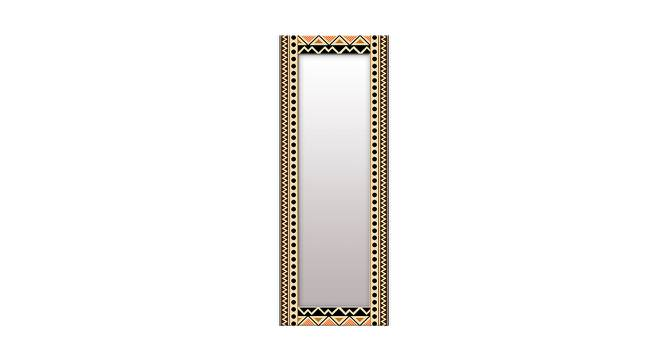 Eilah Wall Mirror (Black, Tall Configuration, Rectangle Mirror Shape) by Urban Ladder - Front View Design 1 - 385599